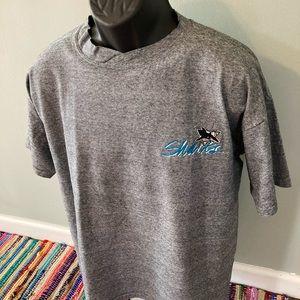 1991 San Jose Sharks NHL Hockey Shirt Striped XL